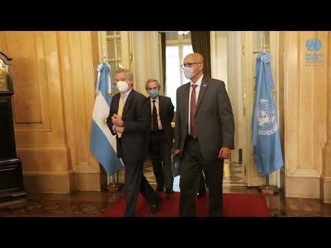 ONU Argentina y el gobierno Argentino firmaron el marco de cooperación para los años 2021 – 2025